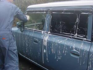 自分で手洗い洗車してみる。